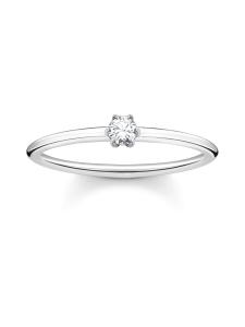 Thomas Sabo - Thomas Sabo Ring White Stone Silver -sormus   Stockmann