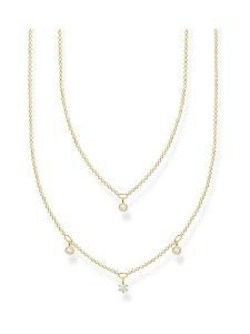 Thomas Sabo - Thomas Sabo Double White Stones Gold -kaulakoru | Stockmann
