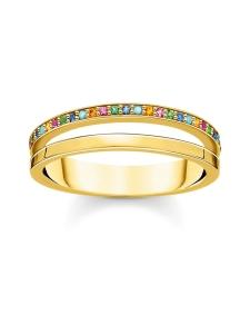 Thomas Sabo - Thomas Sabo Ring Double Coloured Stones Gold -sormus | Stockmann