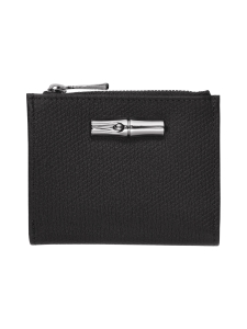 Longchamp - ROSEAU - COMPACT WALLET - NAHKALOMPAKKO - BLACK   Stockmann