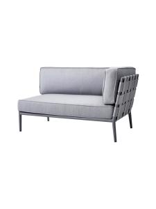 Cane-Line - Conic -kahden istuttava sohva vasen moduli - VAALEA HARMAA | Stockmann