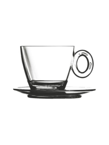 Mepra - Policarbonato-kahvikuppi ja aluslautanen - TRANSPARENT   Stockmann