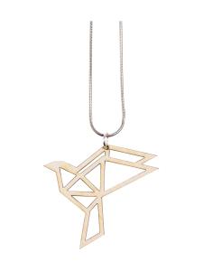 YO ZEN - Origami Dove -kaulakoru, koivu - BEIGE   Stockmann