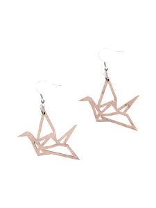 YO ZEN - Origami Swan -minikorvakorut, pähkinäpuu - RUSKEA | Stockmann