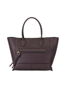 Longchamp - Mailbox Top Handle Bag L - Nahkalaukku - AUBERGINE | Stockmann