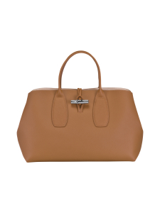 Longchamp - Roseau Top Handle Bag L - Nahkalaukku - NATURAL | Stockmann