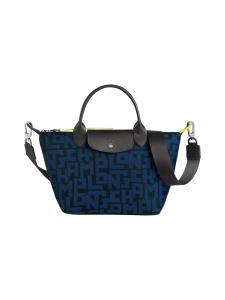 Longchamp - Le Pliage LGP Top Handle Bag S - Käsilaukku - BLACK/NAVY | Stockmann