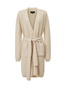 Lexington - Ester Cashmere Blend Belted Cardigan - BEIGE | Stockmann