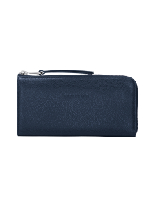 Longchamp - Le Foulonné - Long Zip Around Wallet - Nahkalompakko - NAVY | Stockmann
