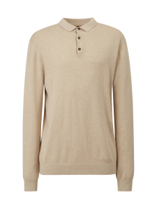 Lexington - Riley Cotton/Cashmere Blend Knitted Polo - BEIGE | Stockmann