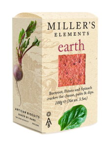 Artisan Biscuits - Cracker Earth Miller's Elements 100g   Stockmann
