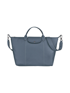 Longchamp - Le Pliage Cuir Top Handle bag L - Nahkalaukku - NORDIC | Stockmann