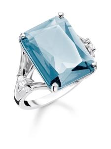 Thomas Sabo - Thomas Sabo Ring Blue Stone, Large, With Star -sormus | Stockmann