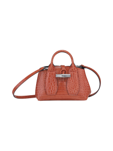 Longchamp - Roseau Croco - Top handle bag XS - Nahkalaukku - CORAL | Stockmann