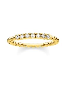 Thomas Sabo - Thomas Sabo Ring Dots With White Stones Gold-sormus | Stockmann