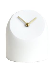 AVERI - Petit-pöytäkello, valkoinen/messinki, 12cm - VALKOINEN | Stockmann