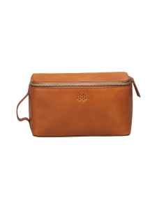 MMV Bags - Luton Leather Washbag -toilettilaukku - COGNAC (KONJAKINRUSKEA) | Stockmann