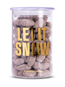 Simply Chocolate - Tummasuklaa Manteleita Lasipurkissa Let it Snow 280g | Stockmann