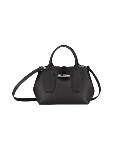 Longchamp - Roseau - Top handle bag S - Nahkalaukku - BLACK | Stockmann