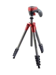 Manfrotto - Manfrotto Compact Action jalusta + kamerapää - Punainen - null | Stockmann