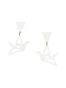 YO ZEN - Swan Triangle -nappikorvakorut, valkoinen - VALKOINEN | Stockmann