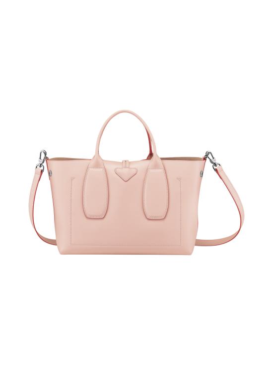 Longchamp - Roseau Box - Top Handle Bag M - Nahkalaukku - POWDER | Stockmann - photo 4
