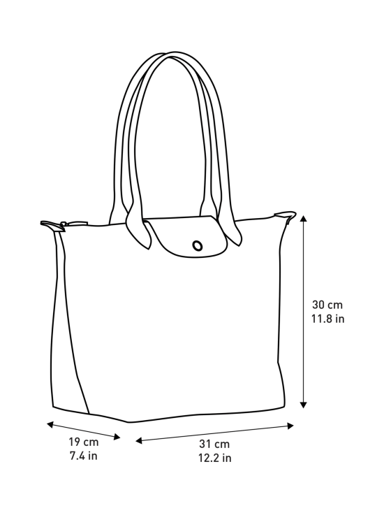 Longchamp - Le Pliage Shoulder Bag L - Laukku - DESERT | Stockmann - photo 5