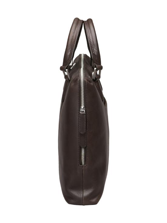 MMV Bags - Luton Briefcase -nahkasalkku - CHOCOLATE (TUMMANRUSKEA) | Stockmann - photo 3