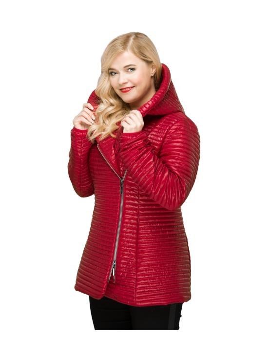 BELIEVE by tuula rossi - CELIA Deep Red Hupullinen Mini Stripe Tikattu Takki - DEEP RED, PUNAINEN | Stockmann - photo 4