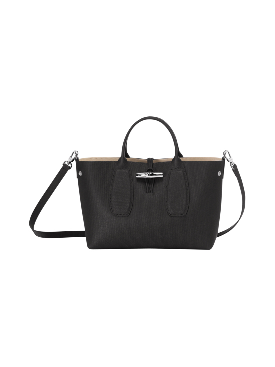 Longchamp - Roseau Top Handle Bag M - Nahkalaukku - BLACK | Stockmann - photo 2