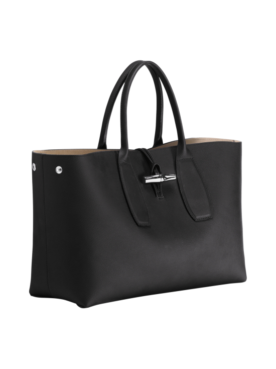 Longchamp - Roseau Top Handle Bag L - Nahkalaukku - BLACK | Stockmann - photo 3