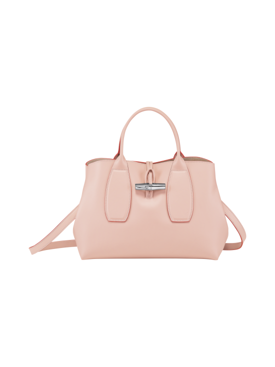 Longchamp - Roseau Box - Top Handle Bag M - Nahkalaukku - POWDER | Stockmann - photo 1
