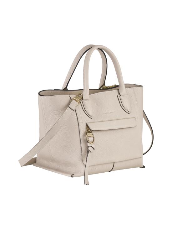 Longchamp - Mailbox Top Handle Bag M - Nahkalaukku - CHALK   Stockmann - photo 2