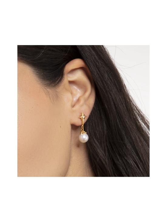 Thomas Sabo - Thomas Sabo Earrings Pearl Star Gold -korvakorut | Stockmann - photo 2