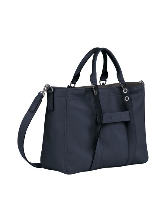 Longchamp - Longchamp 3D Top Handle Bag M - Nahkalaukku - MIDNIGHT BLUE | Stockmann - photo 2