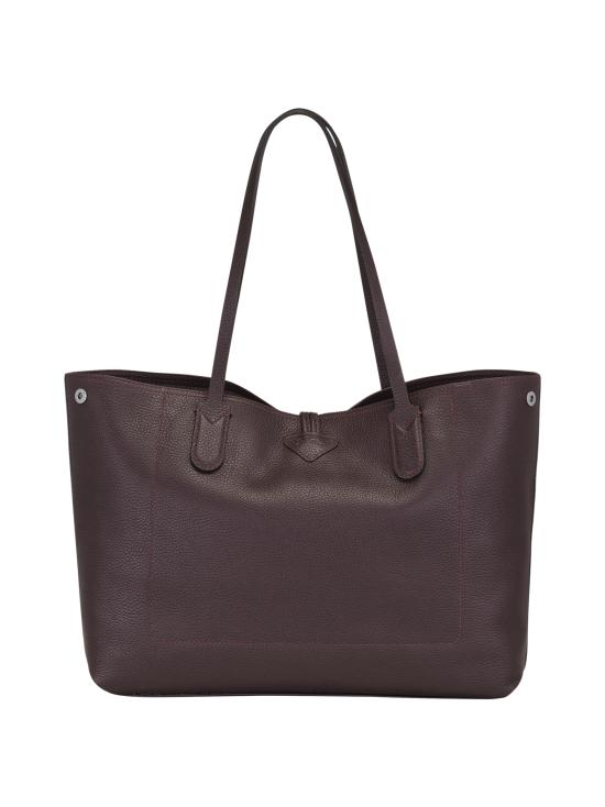Longchamp - Roseau Essential - Shoulder Bag L - Nahkalaukku - AUBERGINE | Stockmann - photo 4