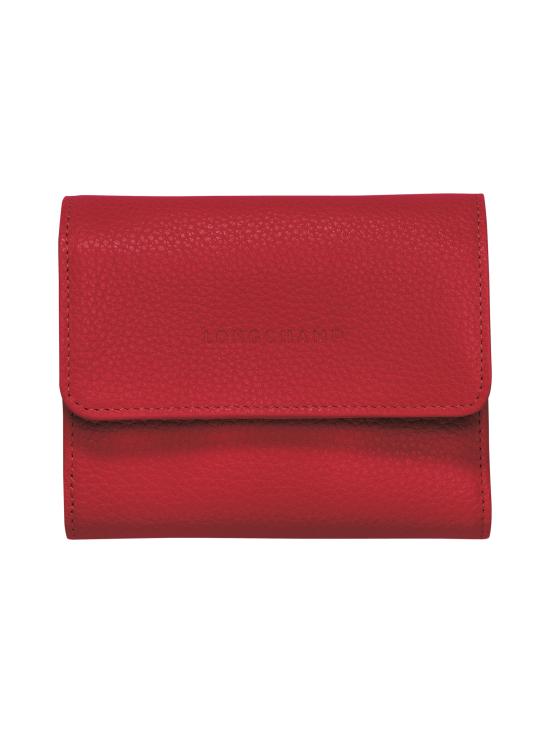 Longchamp - Le Foulonné – Compact Wallet – Nahkalompakko - RED   Stockmann - photo 1