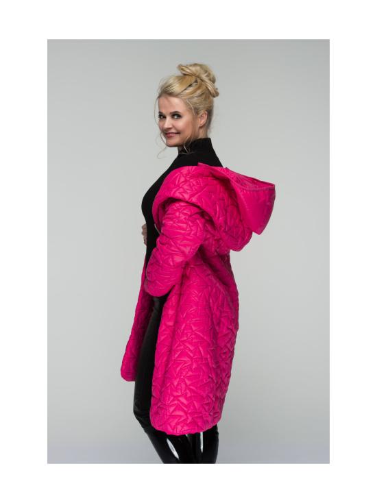 BELIEVE by tuula rossi - TIFFANY Pink Shaali Kaulus Tikattu Takki Irrotettavalla Hupulla - PINK, PINKKI | Stockmann - photo 6