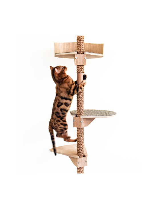 Kissapuu - Kissan Onni kiipeily- ja raapimispuu, koivu & beige   Stockmann - photo 8