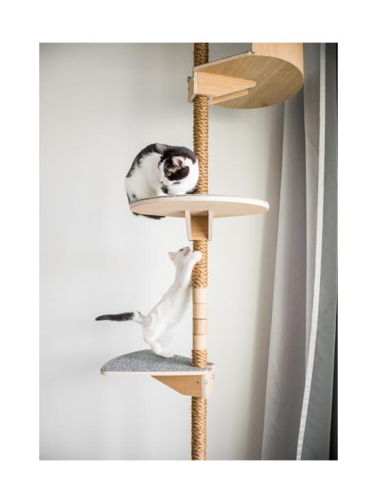 Kissapuu - Kissan Onni kiipeily- ja raapimispuu, koivu & harmaa   Stockmann - photo 6