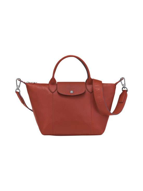 Longchamp - Le Pliage Cuir Top Hadle Bag S - Nahkalaukku - SIENNA | Stockmann - photo 1