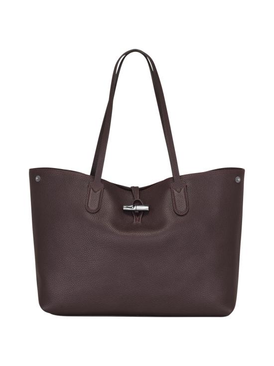 Longchamp - Roseau Essential - Shoulder Bag L - Nahkalaukku - AUBERGINE | Stockmann - photo 1