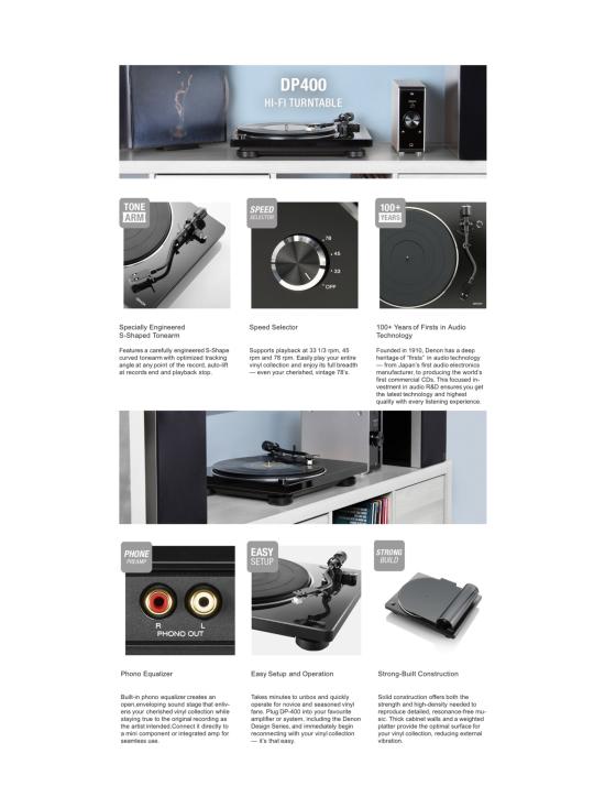 Denon - Denon DP-400 levysoitin, valkoinen | Stockmann - photo 7