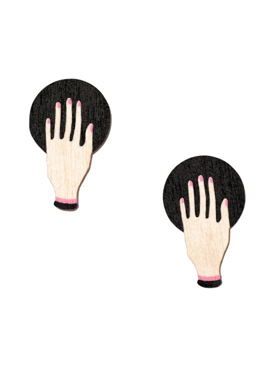 YO ZEN - Hand -nappikorvakorut, musta - MUSTA   Stockmann - photo 1