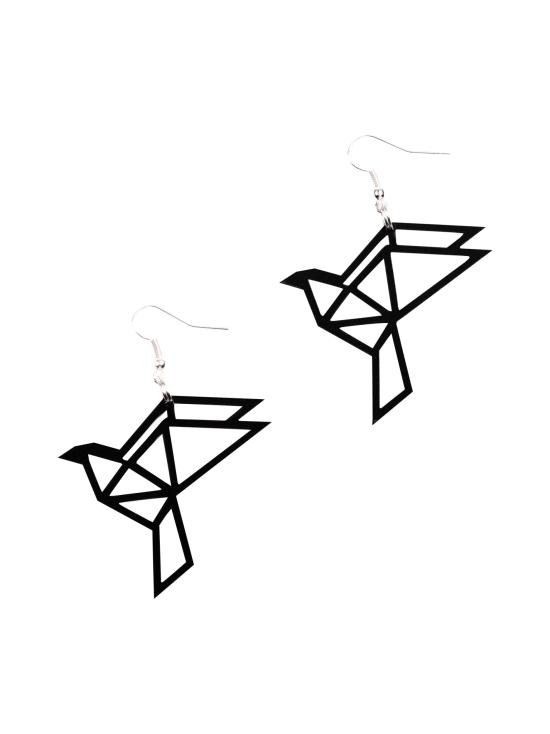 YO ZEN - Origami Dove -korvakorut, musta - MUSTA   Stockmann - photo 1