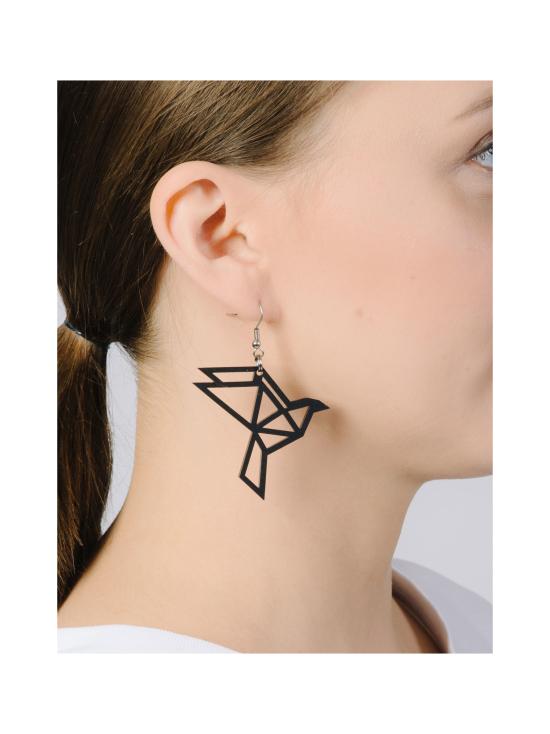 YO ZEN - Origami Dove -korvakorut, musta - MUSTA   Stockmann - photo 2