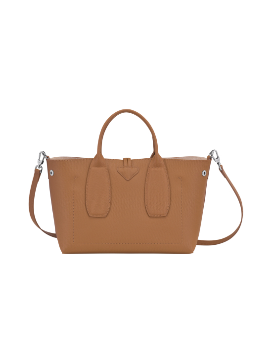 Longchamp - Roseau Top Handle Bag M - Nahkalaukku - NATURAL | Stockmann - photo 4