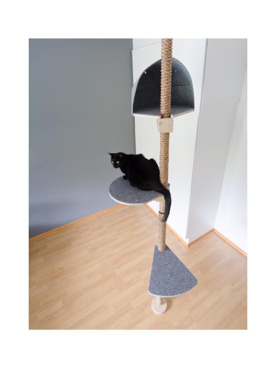 Kissapuu - Kissan Unelma kiipeily- ja raapimispuu, koivu & harmaa | Stockmann - photo 6