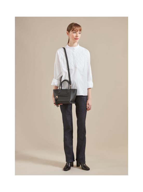 Longchamp - Mailbox Top Handle Bag S - Nahkalaukku - YELLOW   Stockmann - photo 4