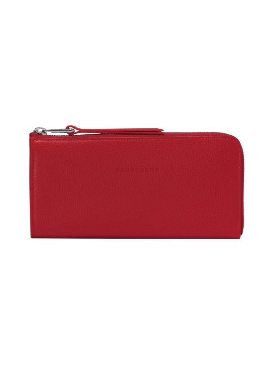 Longchamp - Le Foulonné - Long Zip Around Wallet - Nahkalompakko - RED | Stockmann - photo 1